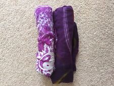 Two Purple Coloured Patterned Pashmina Scarves Shawls