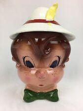 Vintage Metlox Poppytrail Cookie Jar Pinocchio Disney Ceramic 1950's Collectible