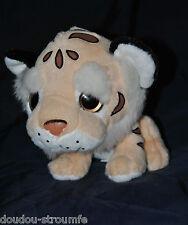 Peluche Doudou Tigre Lion PACO'S Beige Rose Blanc 21 Cm Assis Etat NEUF