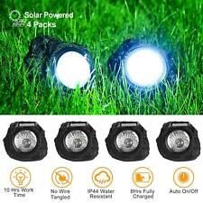 4x Outdoor Solar Powered Rock Spotlights Walkway Landscape Garden Path LED Light