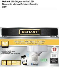 Defiant 270° white Led Bluetooth Motion Outdoor Security Light