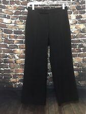 Club Monaco Women's Trouser Pants Size 2  Career Black Capri