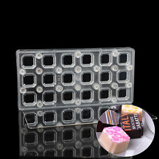Square DIY Chocolate Transfer Sheet Custom Molds Magnetic Polycarbonate Mould
