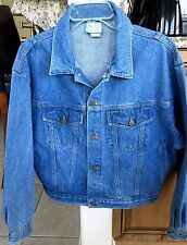Vintage REAL LIFE Denim Jeans Jacket Made USA Size Large 100% Cotton