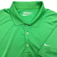 Nike Golf Green Dri Fit Short Sleeve Polyester Tennis Polo Shirt - Mens Medium M