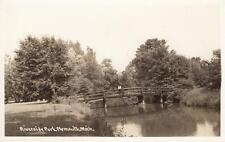 Antique REAL PHOTO POSTCARD c1930-50 Riverside Park PLYMOUTH, MI 19560