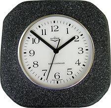146002F Keramik Küchenuhr Artline Antrazit rauhe Oberfläche gespritzt Funkuhr