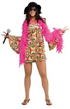 FANCY DRESS COSTUME ~ 1960's LADIES PSYCHADELIA DRESS