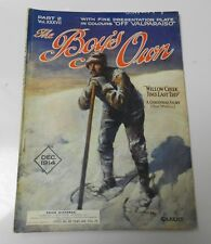 1914 BOY'S OWN UK Magazine DEC King Air Rifle Insert Pygmies VG+