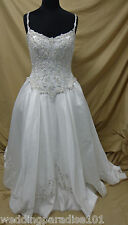 Private Collection 8868 Cinderella Ballgown Size 14 Ivory w/ Silver Retail $1299