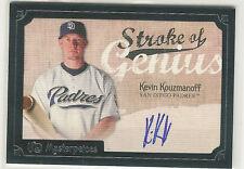 2007 UD MASTERPIECES STROKE OF KEVIN KOUZMANOFF AUTO