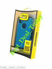 OTTERBOX RUGGED DEFENDER CASE W/ HOLSTER FOR APPLE iPHONE 4S 4 DEEP & LIGHT TEAL