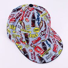 Coca Cola Pop Art Hat Baseball Cap RARE Sz M/L Classic Coke Culture Red Black