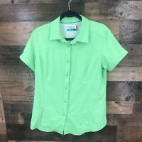 Magellan Fish Gear Mag Wick Women's Green Short Sleeve Vented Back Button Up