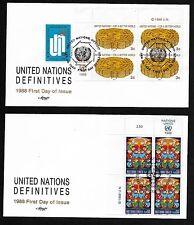 Un Ny 521/Geneva 164 Definitives '88 - Set of 2 Artmaster Mib4Fdcs
