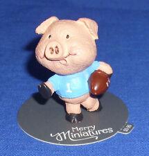 Hallmark Autumn Fall Merry Miniatures Figurine Football Player Pig Hog 2015 New