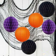 6 PCs HALLOWEEN Party  Honeycomb Ball Round Paper Lanterns Decoration (No.3)