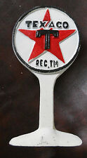 Lot of 5 CAST IRON TEXACO GAS STATION LOLIPOP SIGN DISPLAY DOORSTOP PAPERWEIGHT