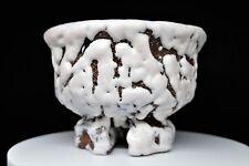 DEMON Chawan ceramica Giapponese SEIGAN YAMANE 山根清玩作 pottery ONI-HAGI tea bowl