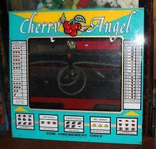 Cherry Angel Slot Machine Bezel Game Plexiglas Front Panel Marquee Vintage