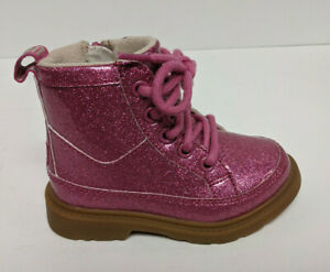 UGG Girl's Robley Glitter Boots, Berry Rose, Toddlers 8 M