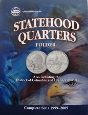 1999-2009 State Quarters Folder Holds Complete 50 Coins &  6 DC Territories