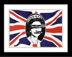 SEX PISTOLS God Save The Queen Vintage style  Poster Mounted Framed FREE POST