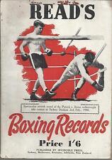 Jack Read'S Australian Boxing Record 1947