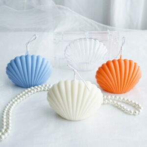 Scented Candle Mold Seashell Scallop Handmade Soap Mold Shell Candle Mold