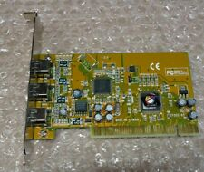 SIIG NN-400012 3 port PCI Firewire 400 Card IEEE 1394, tested and working