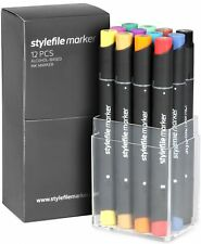 Stylefile Twin Tipped Professional Marker Standard Shades Set of 12