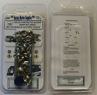(BNP) 10pc Snap Fastener Repair Kit Canvas To Screw Press Stud Kit Pack
