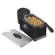 Elgento 3 L Noir en Acier Inoxydable Fat Fry Chip fyring huile panier friteuse