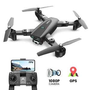 S167 GPS RC Drones with 1080P HD Camera Foldable RC Quadcopter Follow Me 17 Mins