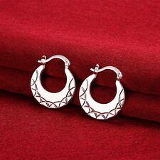 925 Sterling Silver Plated Moon Drop Dangle Hoop Boho Africa Women Party Earring