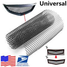 """40""""x13""""/100×33cm Aluminium Black Rhombus Style Car Racing Grille Mesh Net Sheet"""