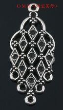 6pcs tibetan silver pendants earring connectors Drop Earrings 45x19mm EH312