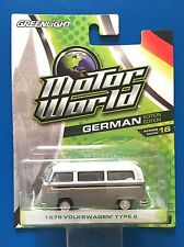 2016 Greenlight Motorworld 1976 VOLKSWAGEN TYPE 2 KOMBI/SAMBA BUS mint on card!