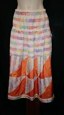 Casual Trends Ladies Vintage Skirt in a Multi-colour Abstract Print Size 12