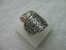 Sterling Silver spoon RING s 8 1/4 MASONIC Jewelry # 7052