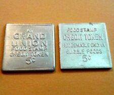 5c GRAN UNION cuadrada USDA FOOD STAMP Token PUERTO RICO Ficha Cupones 1974-9