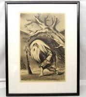 Vtg William Gropper Signed Lithograph - Rip Van Winkle -' Framed Ready to Hang