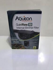QUIETFLOW 10 INTERNAL SHRIMP FILTER by Aqueon - FOR SHRIMP AND PLANTS