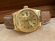 Authentic Rolex Day Date 1803 German 36MM 18K Gold Crocodile