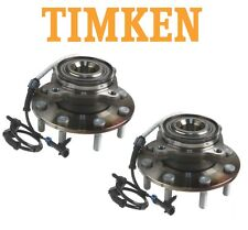 For Chevy GMC 4WD Pair Set of Front Wheel Bearings & Hubs Assies Timken SP580311