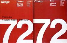 1972 Challenger Charger Coronet Dart Monaco Polara Factory Shop Service Manual