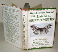 Observer's Book - Larger British Moths-  Frederick Warne - 1953 Reprinted