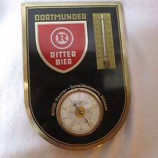 Dortmunder Ritter Bier Thermometer Barometer Wetterstation 50er/60er Jahre Rar!