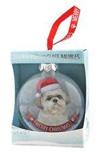 Shih Tzu Glass Bauble Christmas Decoration/Ornament Gift/Present Dog