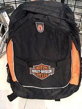 New! Harley Davidson Black-Orange Backpack